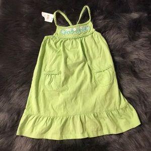 Green Braided Dress